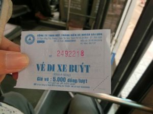 When you pay the fare, you get a ticket. Don't lose until you get off the bus